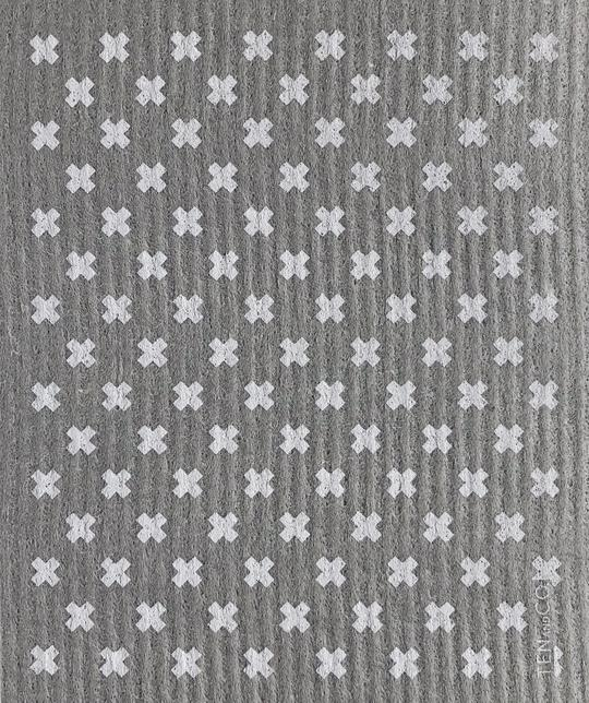 Ten and Co - Tiny X Grey Sponge Cloth
