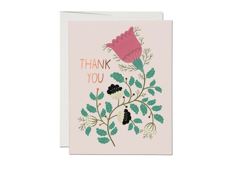 Red Cap Cards - Lovely Tulips Thank You Card