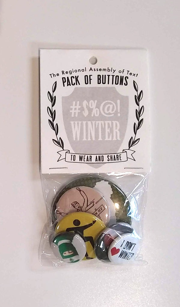 Regional Assembly of Text - #@!$ Winter button pack