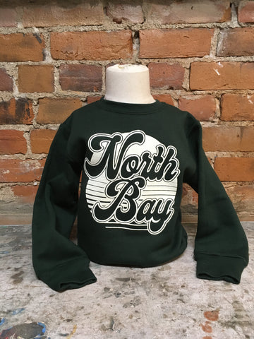 North Bay Unisex CHILD/YOUTH Crewneck Sweater (Forest Green)