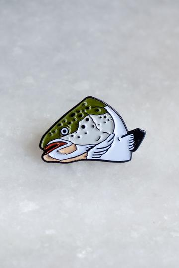 Stay Home Club - Fish Head Lapel Pin