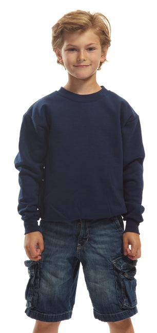 North Bay Unisex CHILD/YOUTH Crewneck Sweater (White)