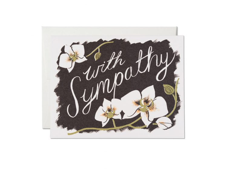 Red Cap Cards - Sympathy Orchid Card