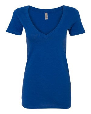 Ladies' Deep V-Neck Soft Wash T-Shirt
