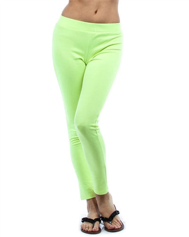 NEON YELLOW PONTE LEGGINGS