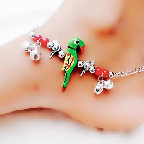 Parrot Styled Anklet- ANK006 Trendy parrot shaped partywear anklet set