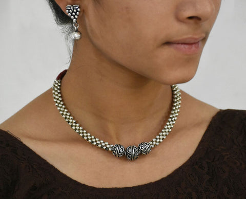 Antique Choker Necklace and Earrings-ACN019