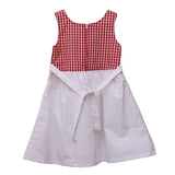 Bubu White Checkers Applique Frock