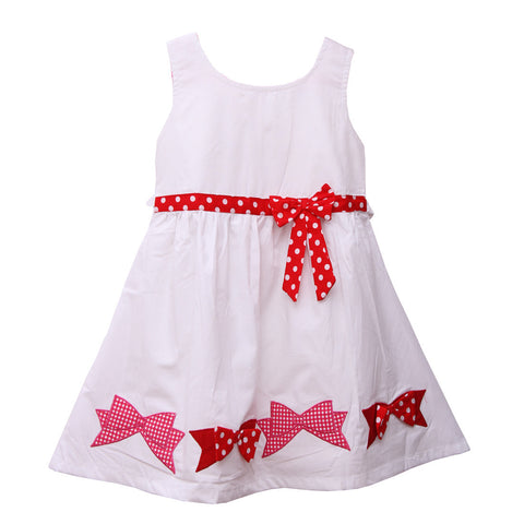 Bubu White Polka Applique Frock