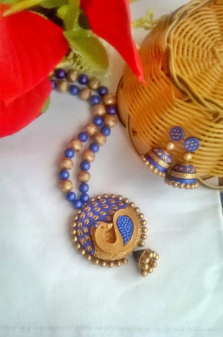 Blue and Golden Peacock set