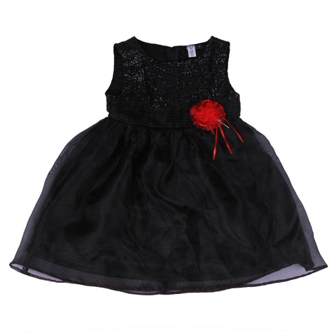 Bubu  Baby Girls Black Party frock