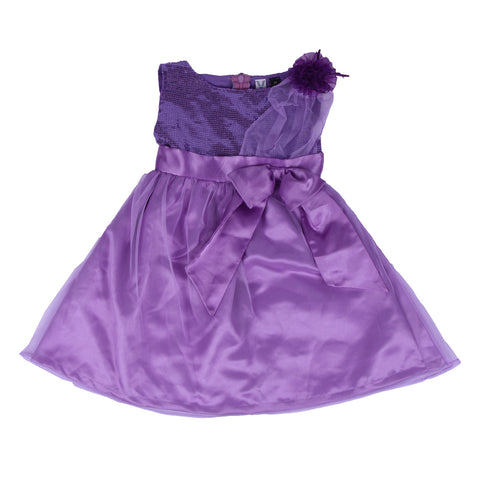 Bubu  Baby Girls Lavender Party frock