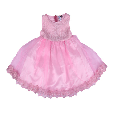 Bubu  Baby Girls Pink Party frock