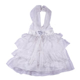 Bubu  Baby Girls White Frilled Party frock