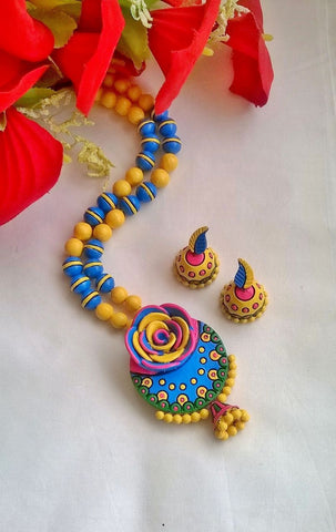 Colourful Rose Terracotta set