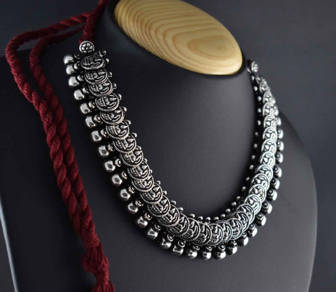 Oxidized Temple Necklace-OTN001