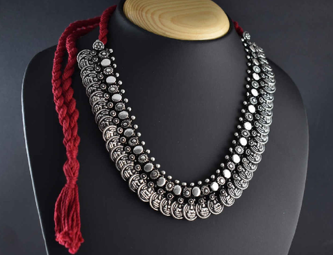 Oxidized Temple Necklace-OTN002