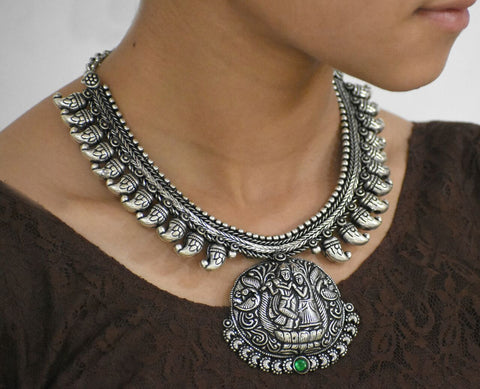 Oxidized Temple Necklace-OTN040