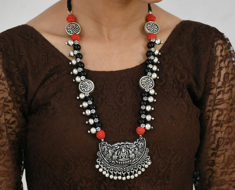 Oxidized Temple Necklace-OTN047