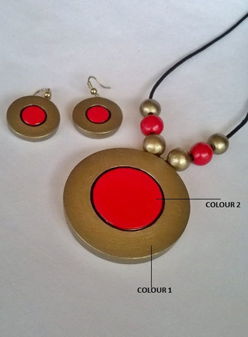 Plain Round Terracotta Jewelry Set