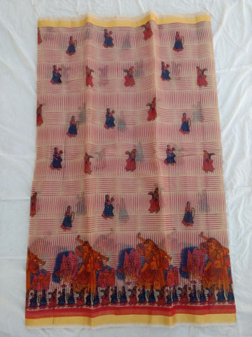 Pure Kota Cotton Printed Saree Design-KOTASRE033