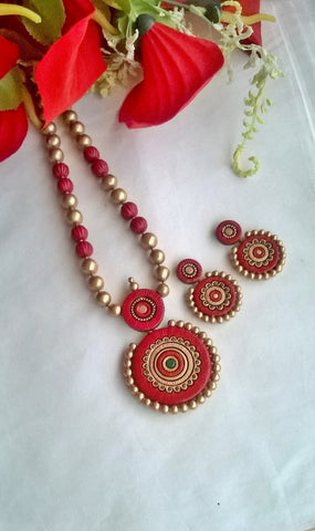 Red Double layered Circle set