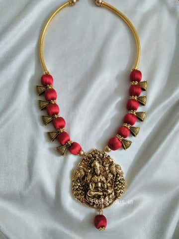 silk thread maroon necklace online rajputi choker set grande products hayagi