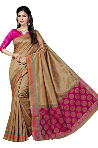 Soft Jute Silk Saree-SSSRE029