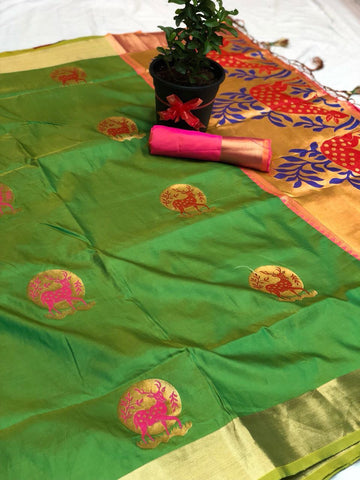 Soft Silk Saree-SSSRE037