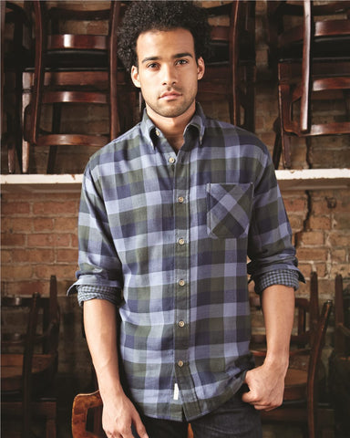 Weatherproof Vintage Men's Brushed Flannel Long Sleeve Shirt