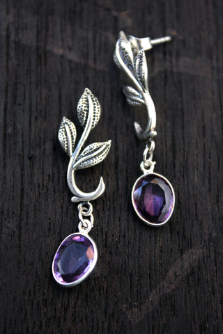 Vine earrings - Purple