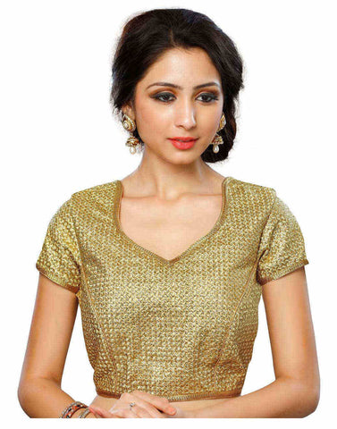 Melluha Beige Customizable Readymade Blouse