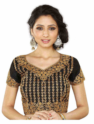 Melluha Black Customizable Readymade Blouse