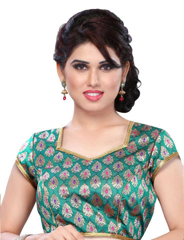 Melluha Green Customizable Readymade Blouse