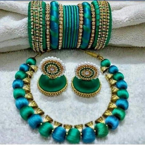 Peacock blue and green full set