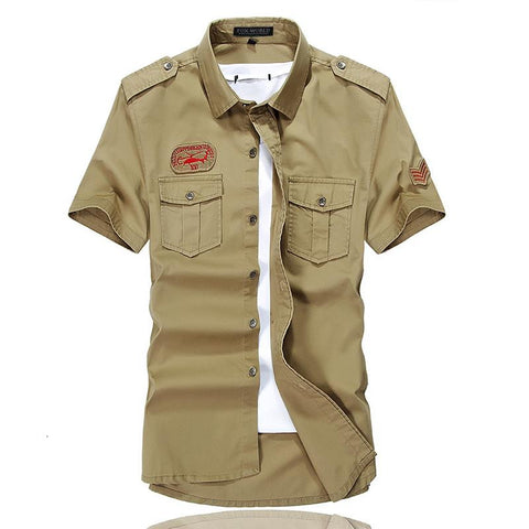 Men's military style Short Sleeves Casual shirt (Available in 3 colours)