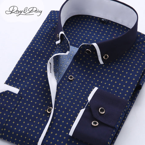 Assorted Printed Men Turn-Down Collar Casual Shirt DS-026 (Available in 11 colours)
