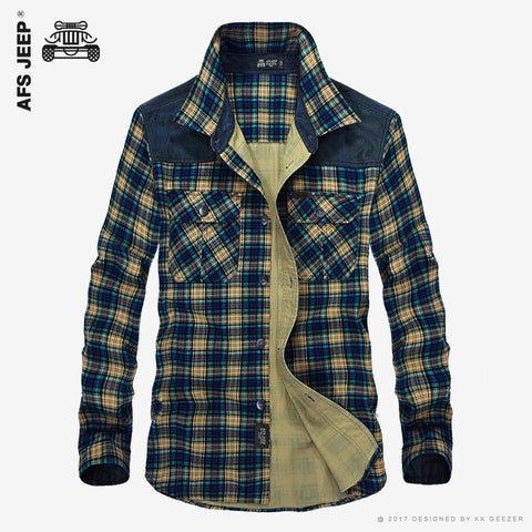 AFS JEEP Men's Plaid Cotton Casual Shirts (Available in 5 colours)