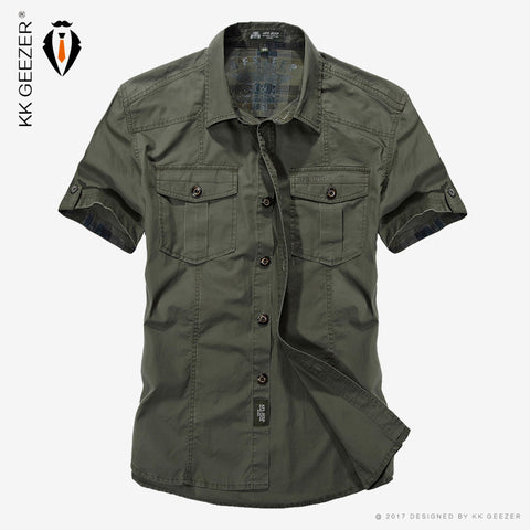 AFS JEEP Cotton Casual Army Shirts - 2849910