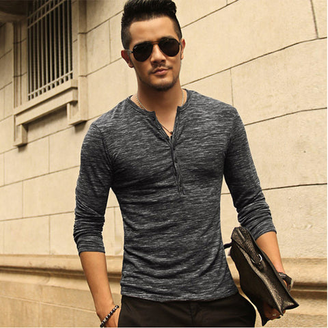 Long Sleeve Stylish Slim Fit T-shirt