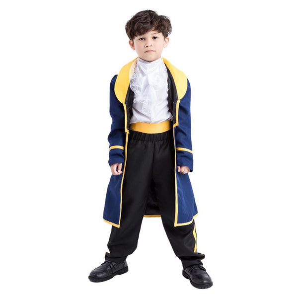 Kids Boys Beauty and the Beast Costume Prince Cosplay Fancy Dress Halloween Carnival Party Outfit