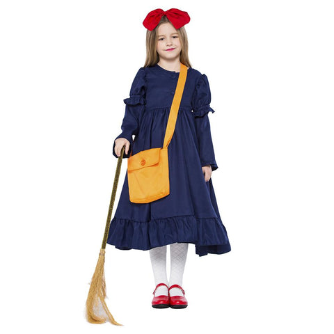 Kids Girls Kiki's Delivery Service Cosplay Costume Dress Halloween Cute Girl Dress Carnival Full Set