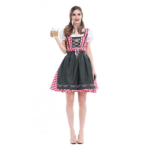 Women Oktoberfest Costumes Beer Maid Authentic German Ladies Festive Party Waiter Bavarian Dirndl Peasant Dress