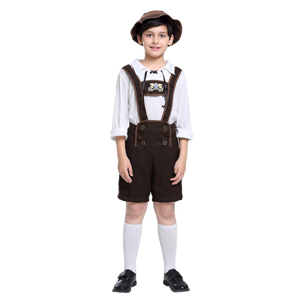 Kids Boys Oktoberfest Costumes Traditional German Bavarian Beer Festival Party Clothes Halloween Cosplay Costumes