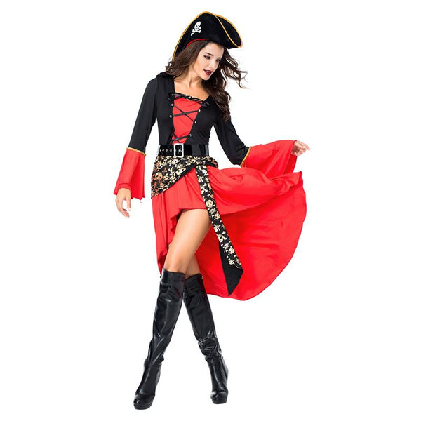 Adult Women Halloween Sexy Wench Costume Pirate Female Spanish Pirate Cosplay Costume