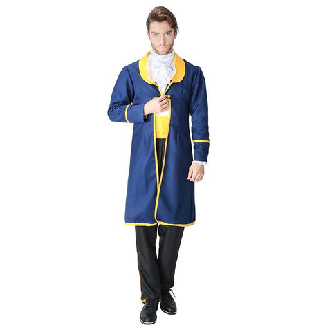 Adult Men Beauty and the Beast Costume Prince Cosplay Fancy Dress Halloween Carnival Party Outfit