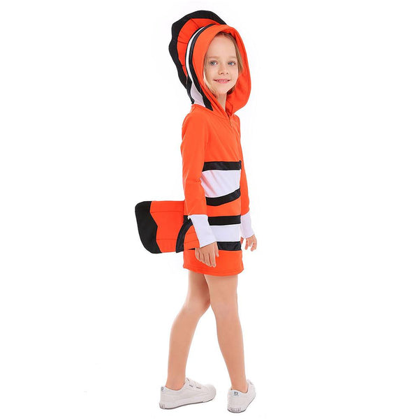 Kids Girls Halloween Party Finding Nemo Clown Fish Carnival Fancy Dresses Kids Camouflage Costumes Girls Outfits