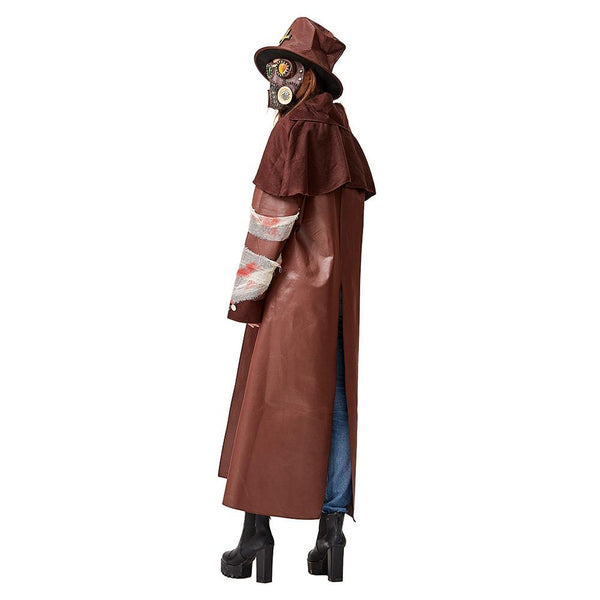 Adult Unisex Plague Doctor Costumes Black Death Doctor Costume Gothic Tailcoat Victorian Steampunk Coat Jacket