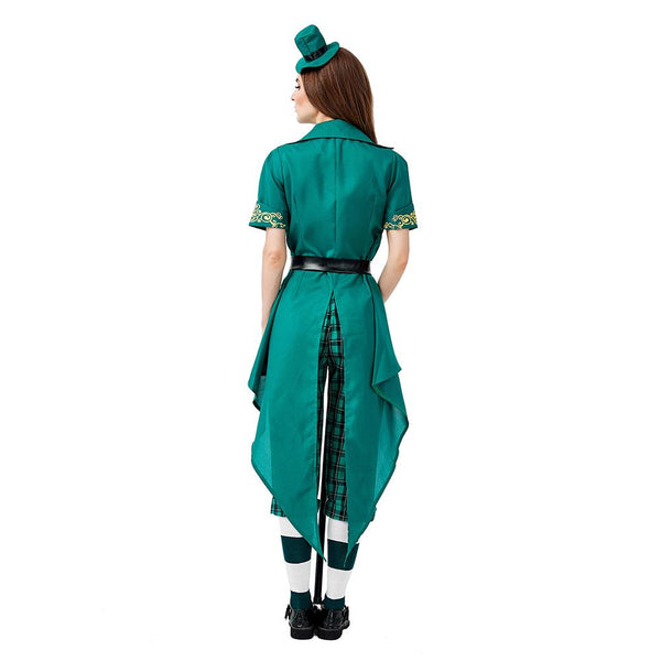 Women Lucky Leprechaun Adult Costume Fancy Dress Ladies St Patrick Day Irish Costumes