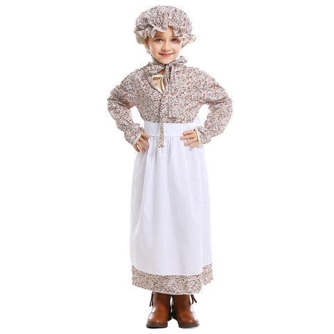 Kids Girls Fairy Tale Grandma Wolf Cosplay Costume Little Red Riding Hood Party Stage Dress Halloween Costume